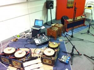 Augmented Gamelan setup at HMVS